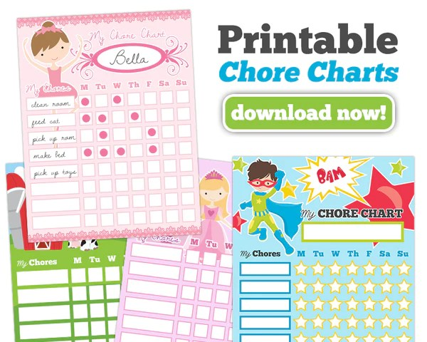 Calendar Templates Lightroom  Chore Charts For Kids 4 Options – Pretty Presets For