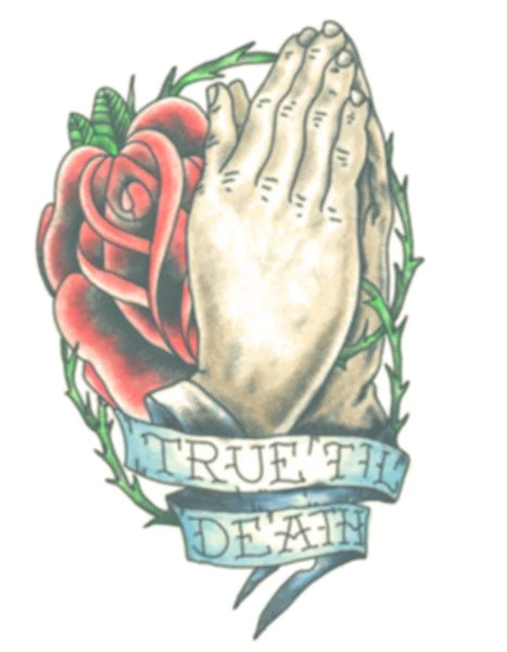 Used Products Delft Praying Hands With Rose / True Till Death – Tattooednow! Ltd.