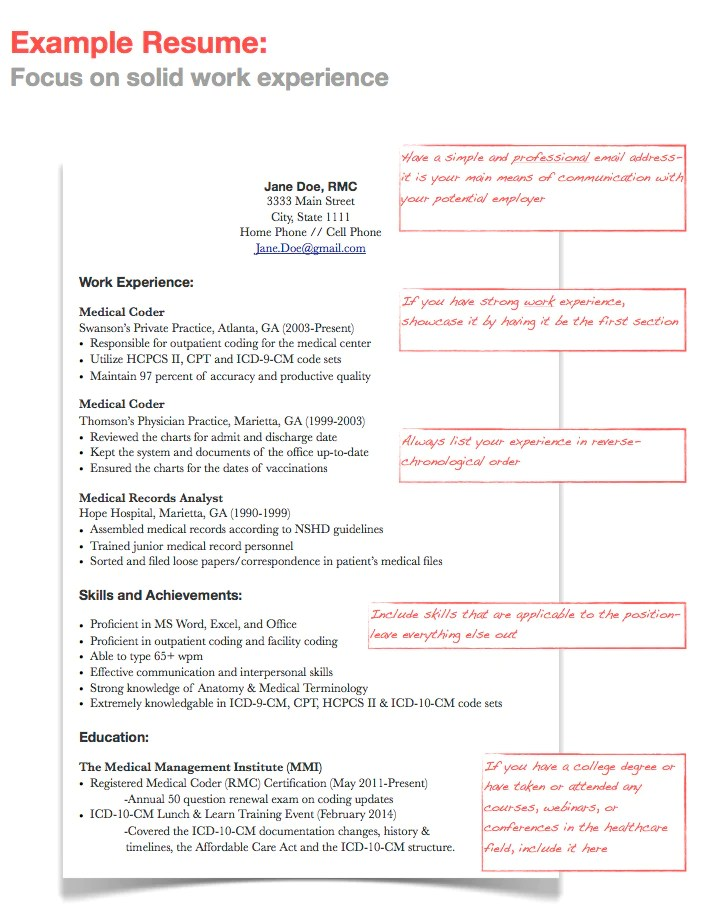Resume Objective Medical Coder Samples To Kickstart Your Career Writing
