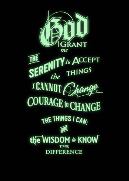 God Inspirational Quotes Wallpaper Inspirational Quotes The Serenity Prayer Glow In The Dark
