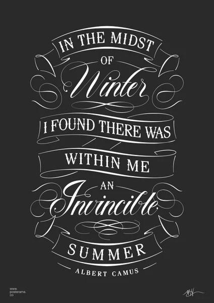 Albert Camus Quotes Wallpaper Albert Camus Invincible Summer Quote Poster 4 Www