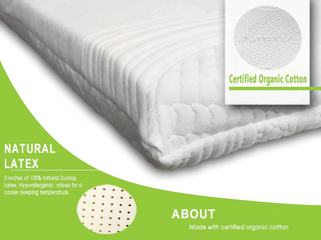 What Is A Latex Mattress Latex Mattress Topper 2 Quot All Natural Support System
