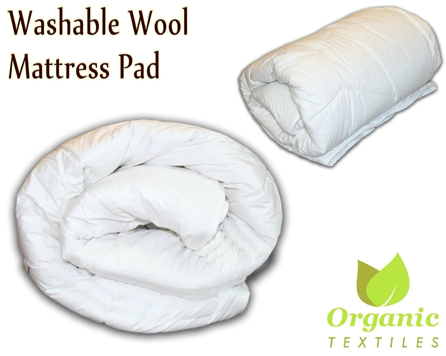 Wool Mattress Pad Reviews Washed Premium Wool Mattress Pad