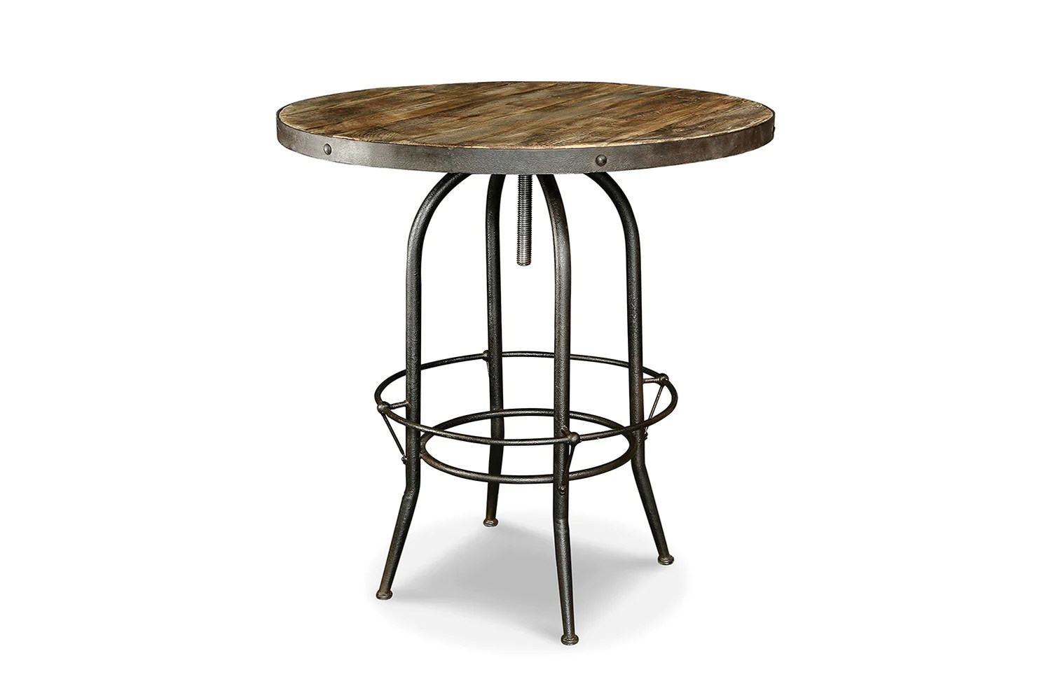 Table Bar Industriel Table Haute De Bar Industrielle Tm04 Rose Moore