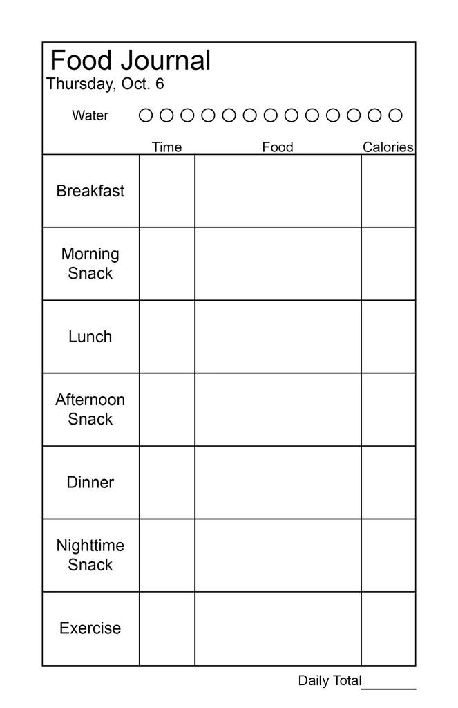 daily meal log template