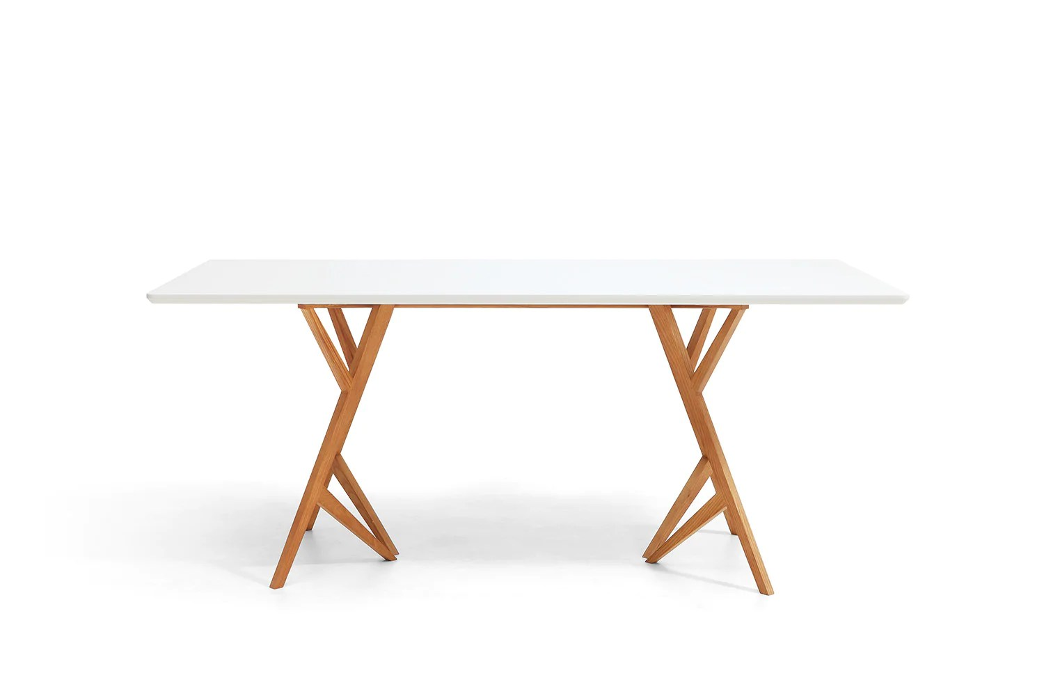 Table Blanche Rectangulaire Table De Salle à Manger Design Scandinave Vispa Dewarens