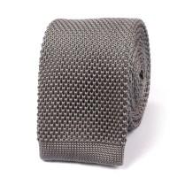 Grey Knitted Tie | Knit Ties Knits Necktie Neckties | OTAA