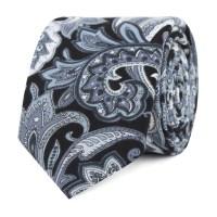 Silver Skinny Ties | Grey Slim Tie | Charcoal Thin Ties ...