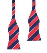 Navy Blue Red Bow Ties | Self Tie, Untied | Men Suit ...