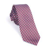 Navy and Light Blue Red Checkered - Skinny Tie | Men Ties ...