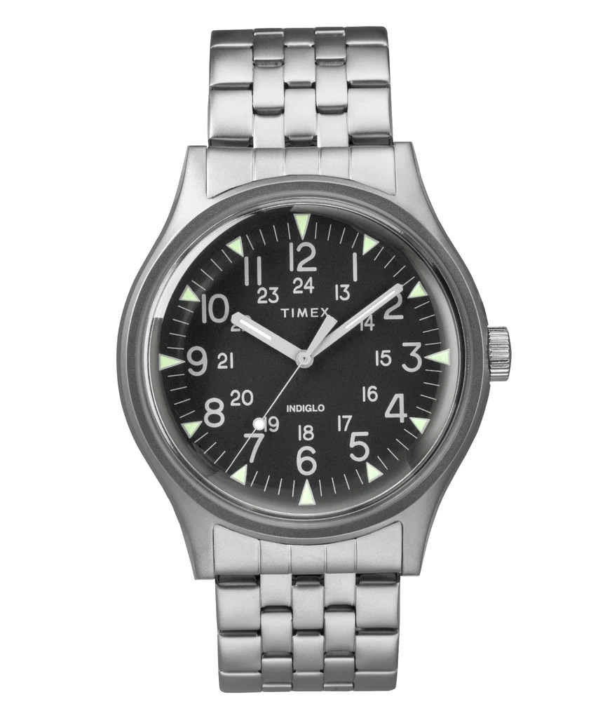 Steel Watch Timex Mk1 Steel Watch With Steel Bracelet