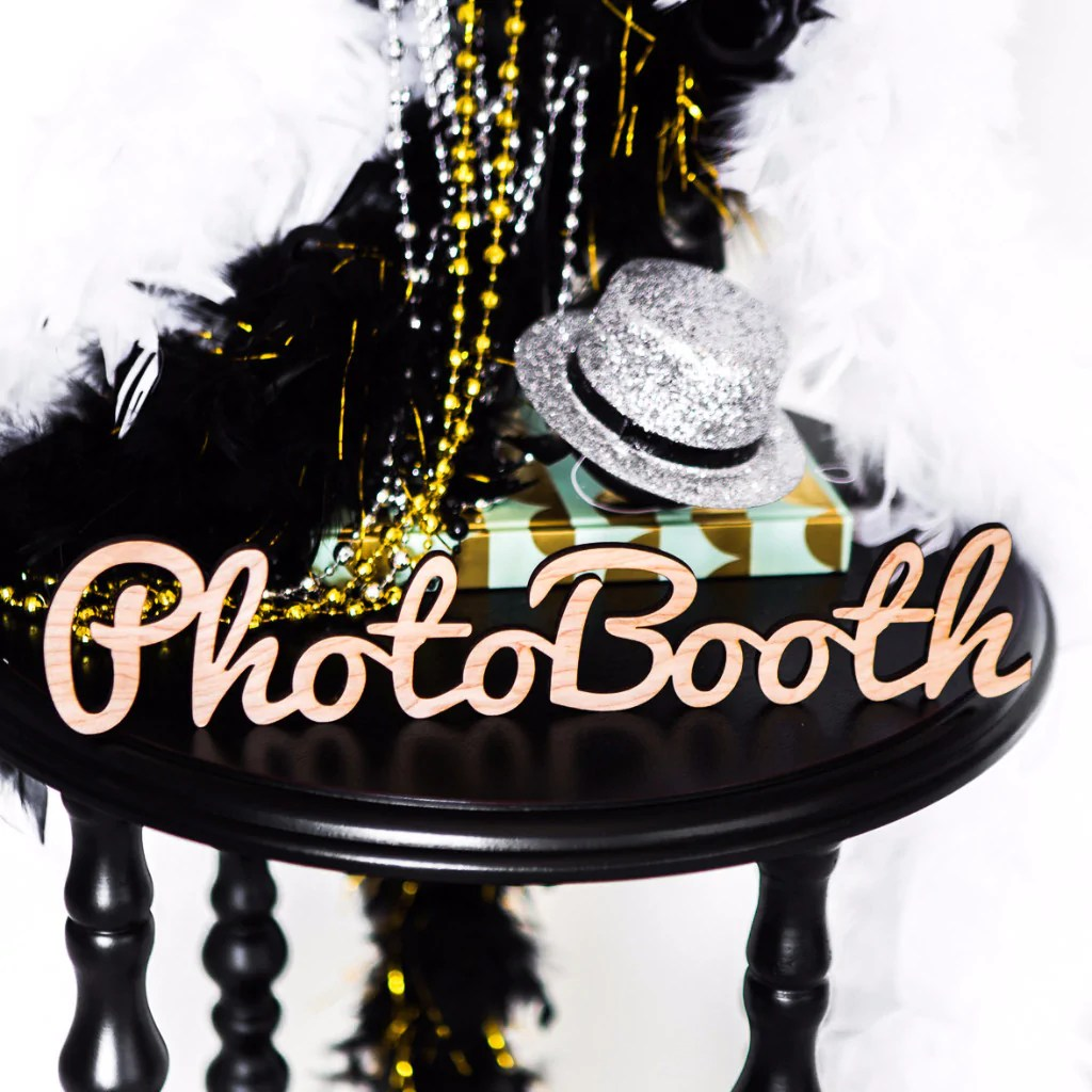 Decor Photobooth Photobooth Wooden Word Cutout For Wedding Or Party