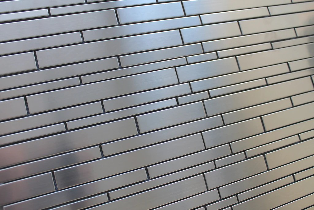 Stainless Steel Random Strips Mosaic Tiles Rocky Point