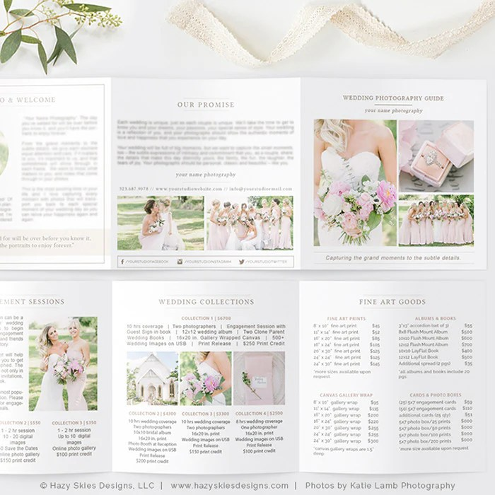 photography pricing template - Ozilalmanoof - wedding price list