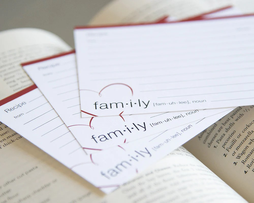 Definition of Family - Recipe Cards – Exquisite Inks