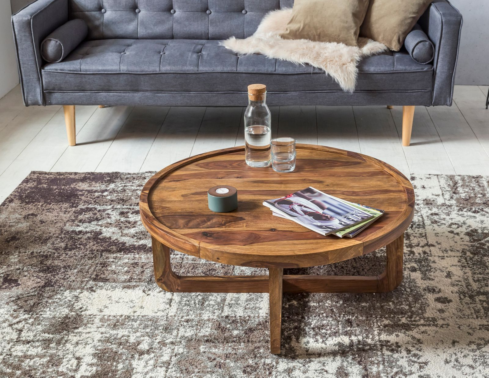 Couchtisch Curved Sheesham Holz Stone Buy Solid Wood Curved Round Coffee Table Online New Launch Tv