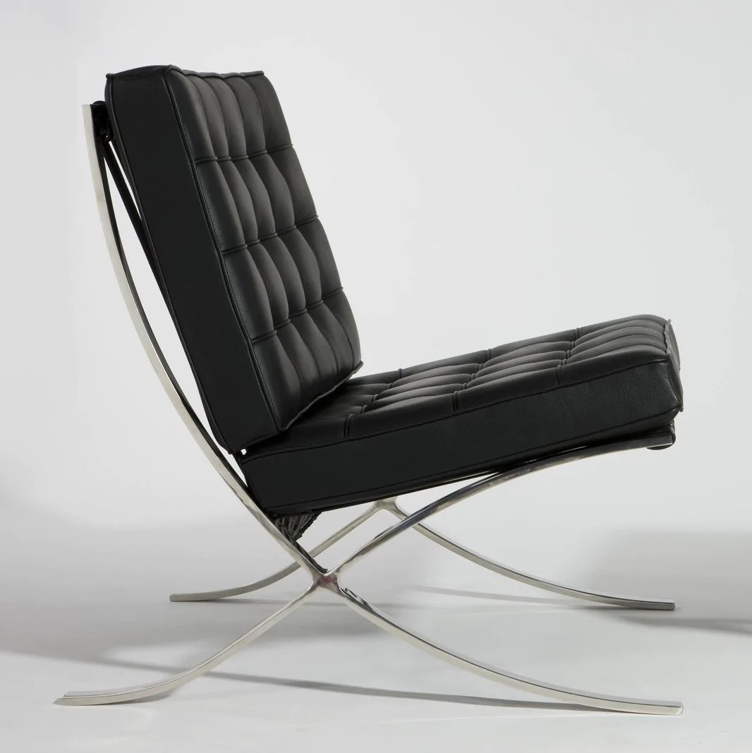 Ludwig Mies Van Der Rohe Ludwig Mies Van Der Rohe Stainless Steel Furniture With Leather