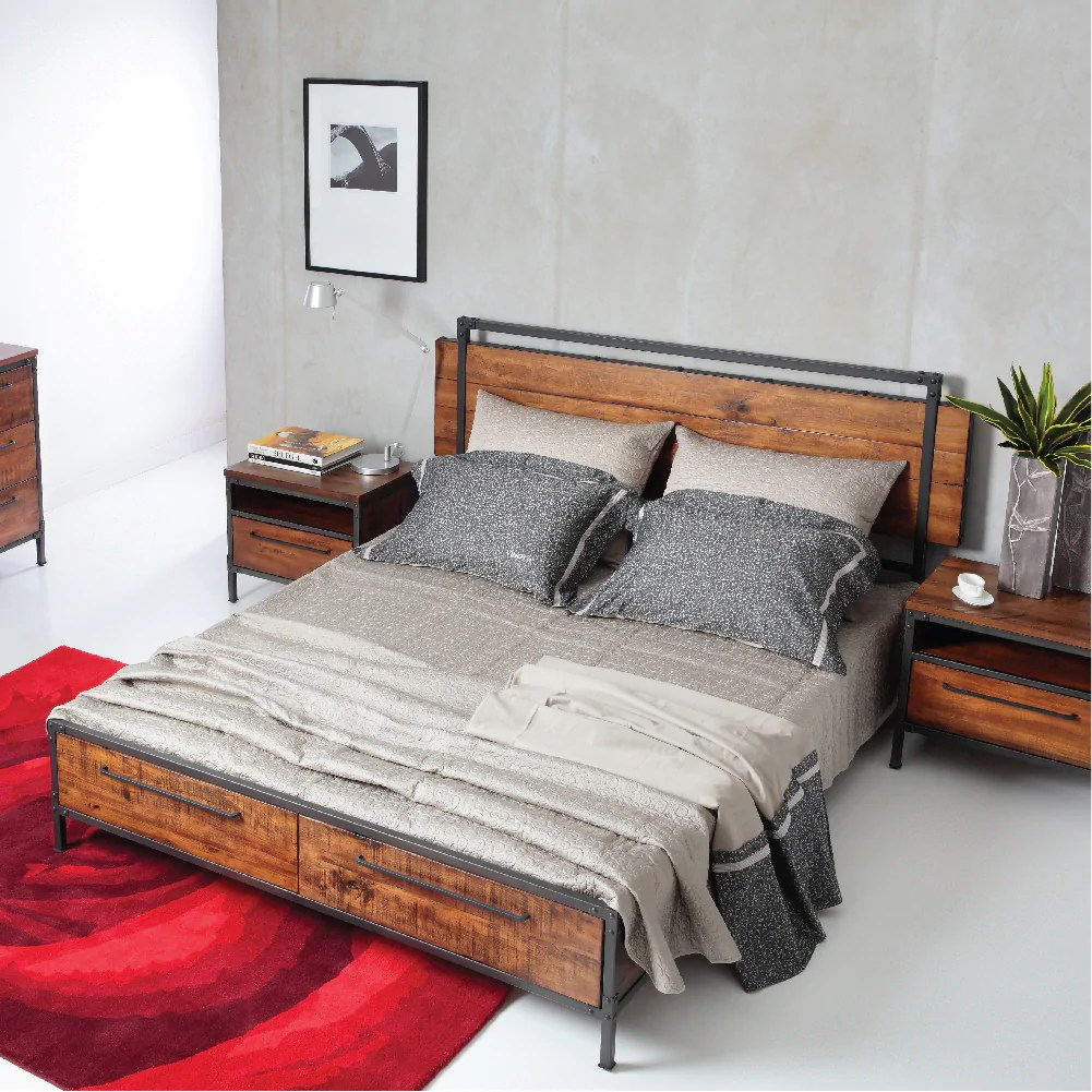 Cheap Wooden Bed Frames Picket Rail Solid Wood Bedroom Furniture At City Square Mall