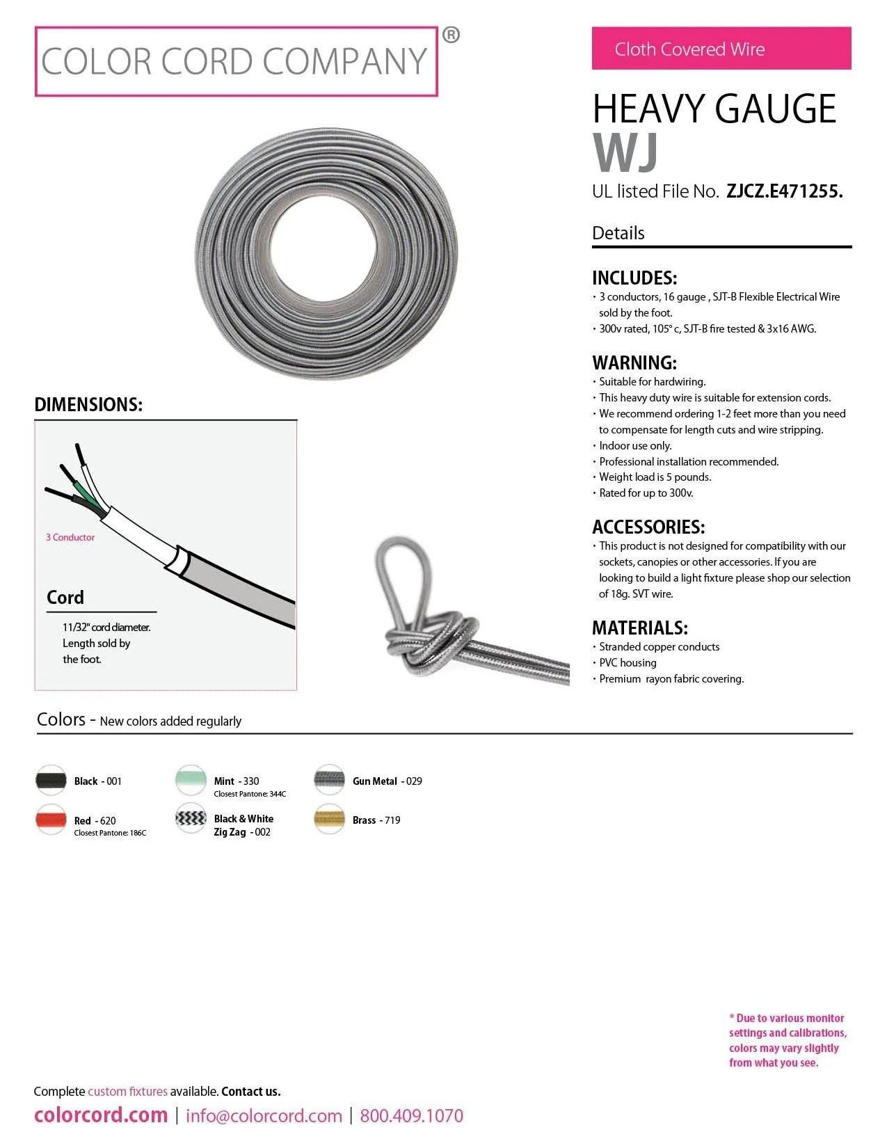 extension cord wire colors