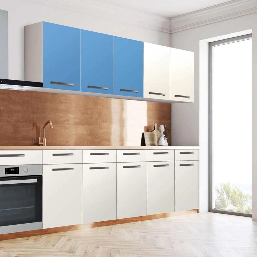 Klebefolie Küche Blau