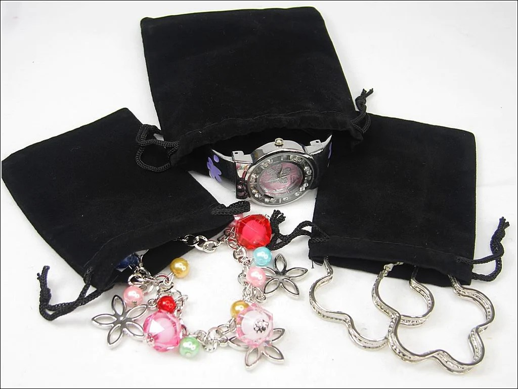 Wholesale Velvet Jewelry Pouches Wholesale Lot Of 100 Black Velvet Pouches With Drawstring