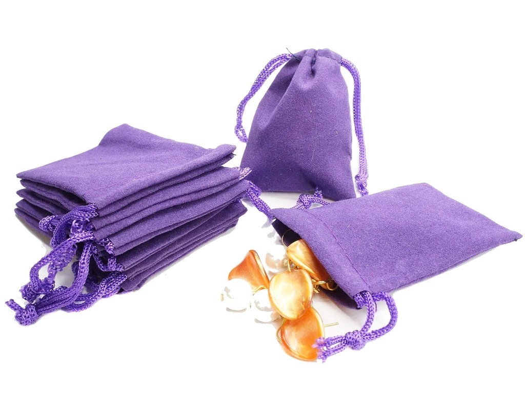 Wholesale Velvet Jewelry Pouches Wholesale Lot Of 100 Purple Velvet Pouches With Drawstring