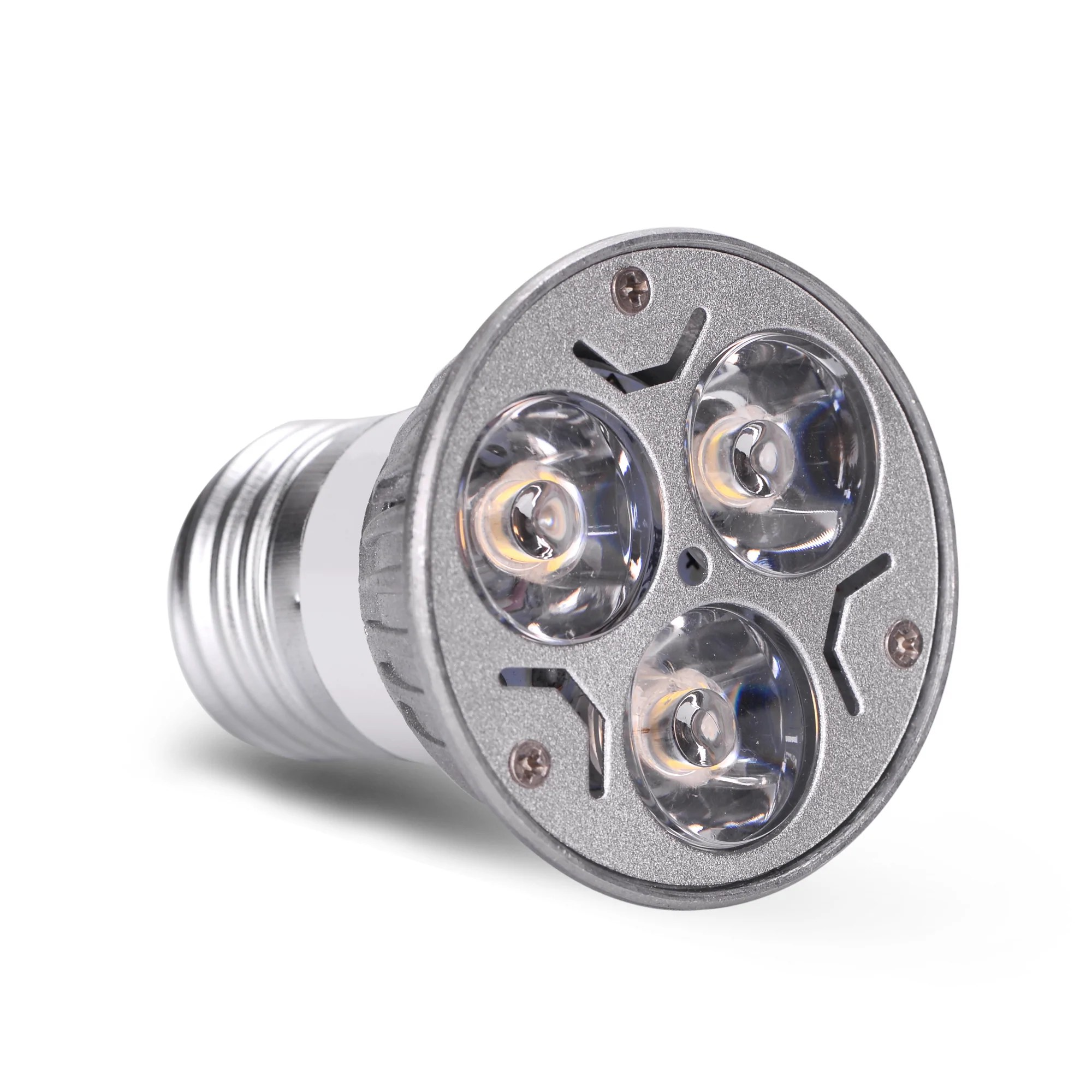Led Spot Ac Dc 12v 12 Volt 3w 1w X 3 Led Spot Light Bulb E26 E27 Par16 Screw Socket Lamp