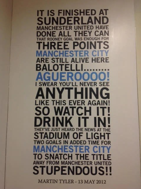 Graphic Design Quote Wallpaper Manchester City Football Quote Wall Sticker Wallboss