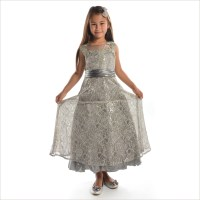 Diane Stunning Silver Junior Bridesmaid Dress 8-14 years