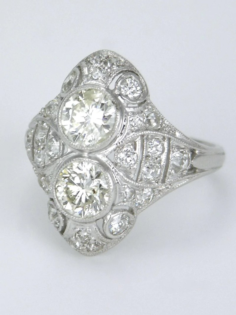 Large Of Two Stone Ring