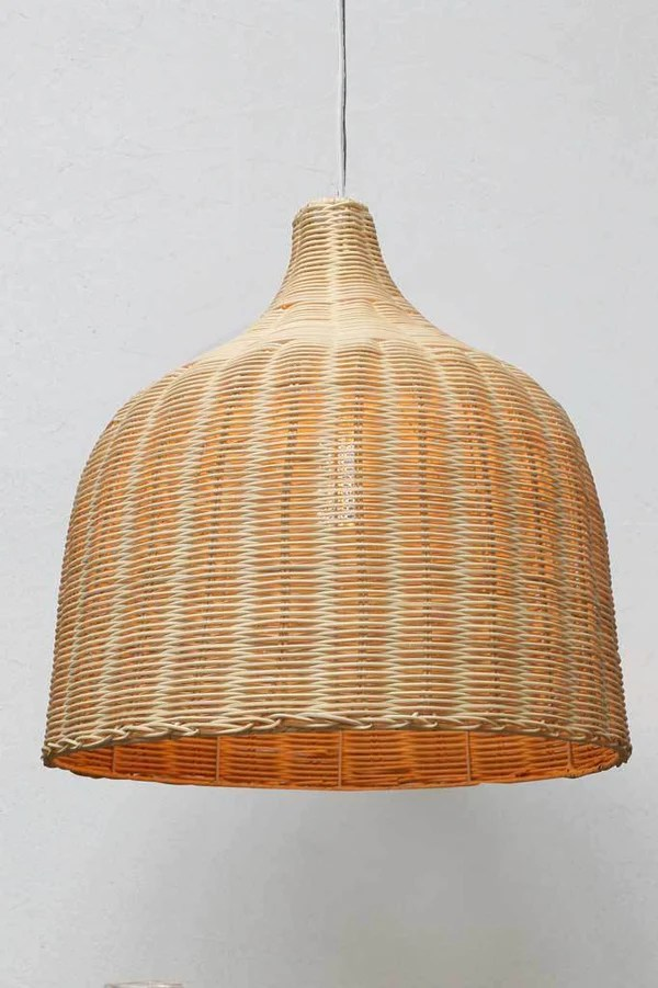 Low Voltage Led Outdoor Wall Lights Wicker Ceiling Light | Large Rattan Pendant Light Shade - Fat Shack Vintage