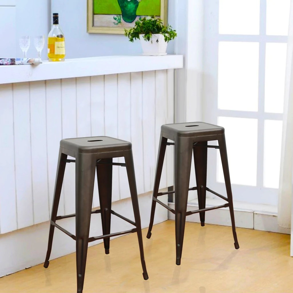 Tabouret Metal Tolix Consumer Bronze 30 Inch Metal Tolix Style Chic Chair Bar Stool