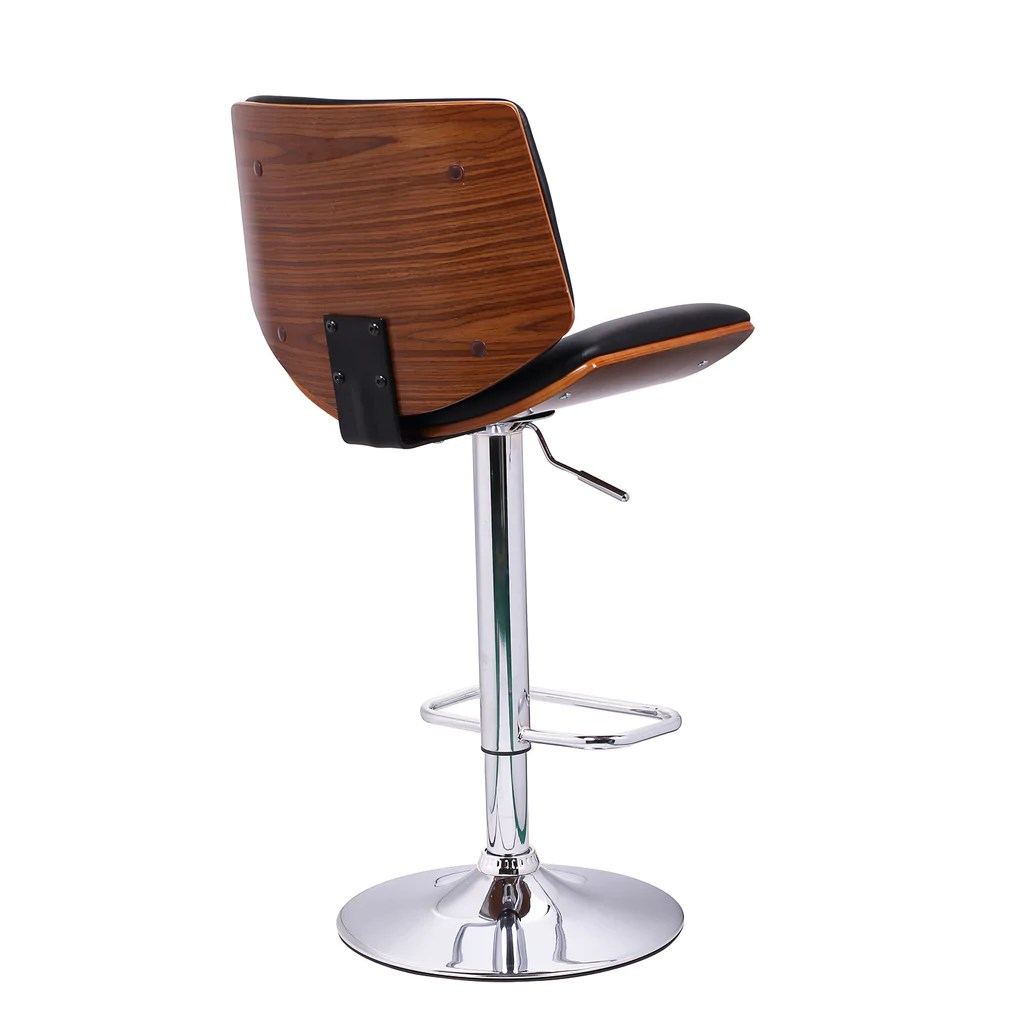 Colorful Bar Stools With Backs Home Black Leatherette And Walnut Color Wood Bar Stool