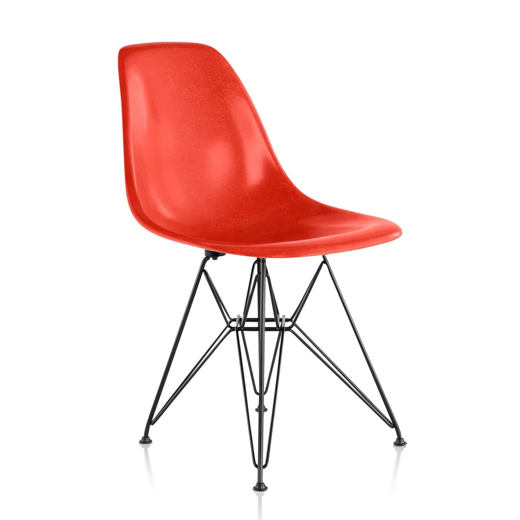Eames Chair Base Eames Molded Fiberglass Side Chair With Wire Base