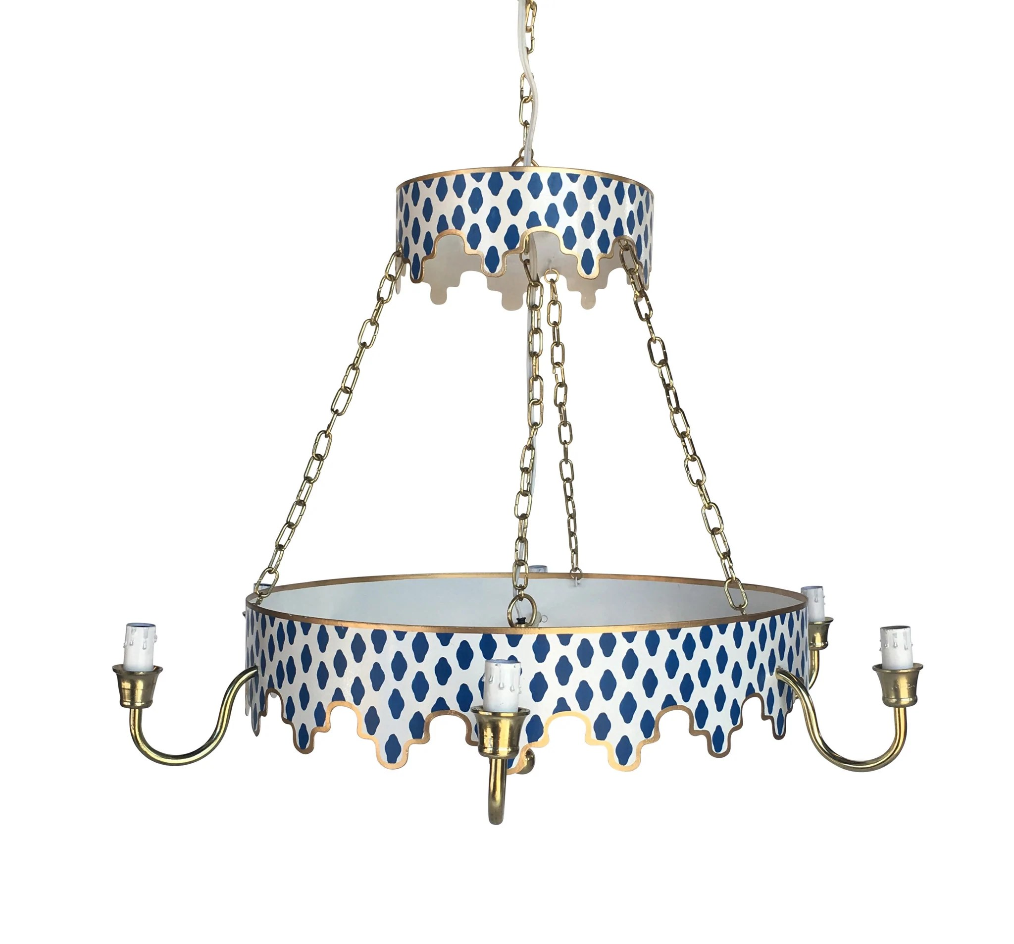 Small Simple Chandelier Parsi In Navy Chandelier
