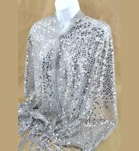 Silver, Gray Shawls  Fashion Nouveau