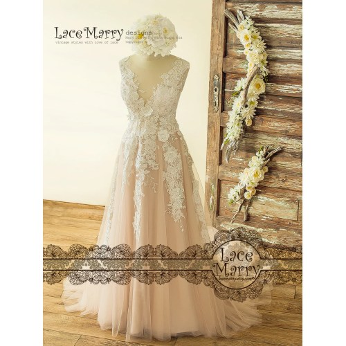 Medium Crop Of Vintage Lace Wedding Dress