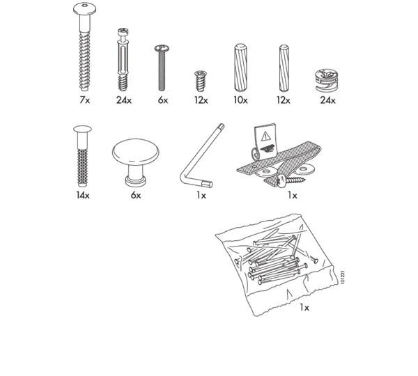 Ikea Hemnes 3 Drawer Dresser Ikea Hemnes Dresser Replacement Parts – Furnitureparts.com