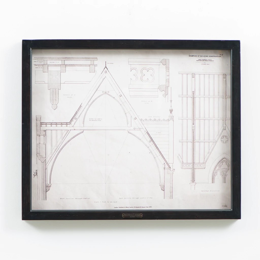 Architectural Prints Framed Architectural Print Magnolia