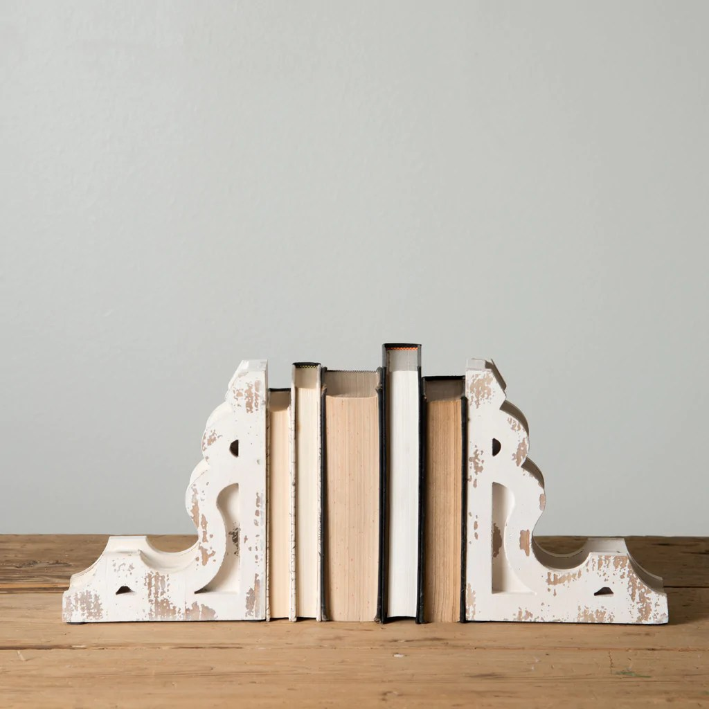 Bookends Book White Corbel Book Ends Magnolia Market Chip And Joanna