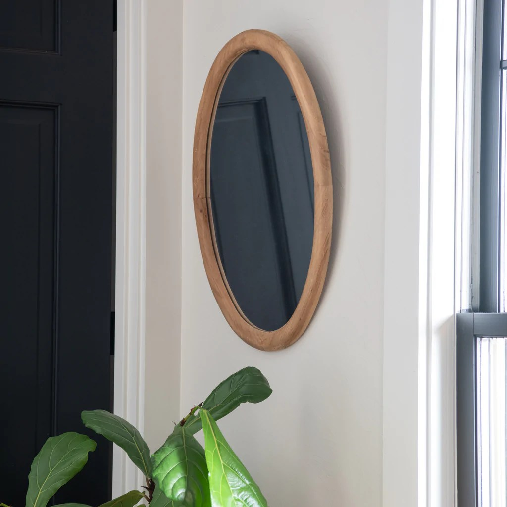 Oval Mirror Wood Frame Julia Mirror