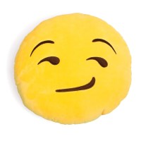 Smirking Emoji Pillow - Shelfies