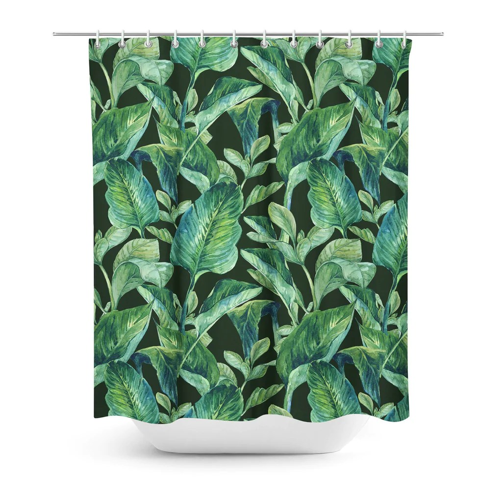 Banana Leaf Shower Curtain Banana Leaves Shower Curtain