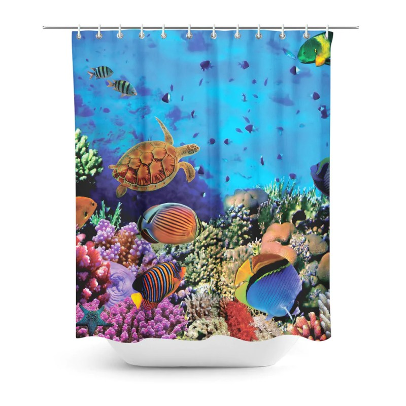 Large Of Coral Shower Curtain