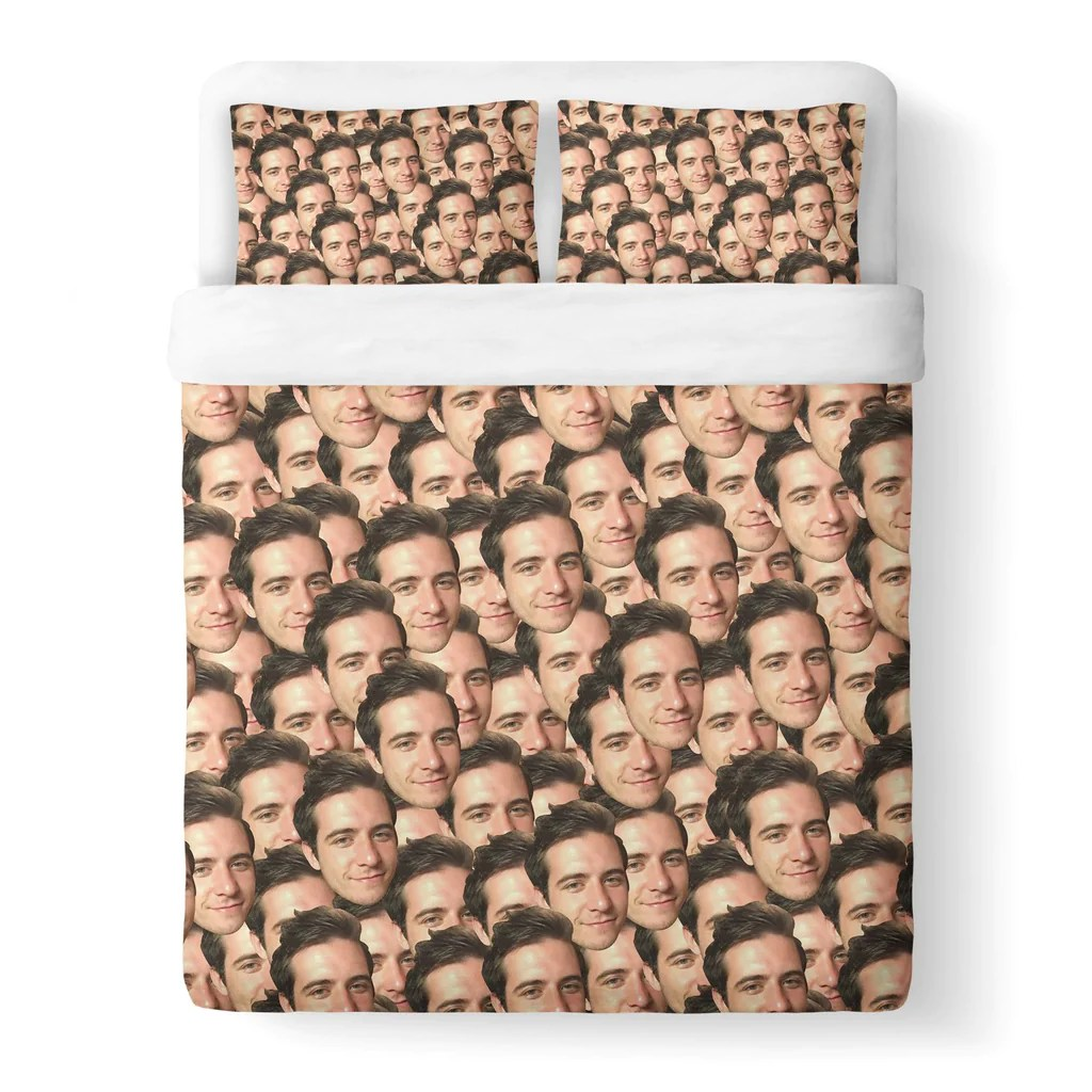 His Bettwäsche Your Face Custom Duvet Cover Shelfies