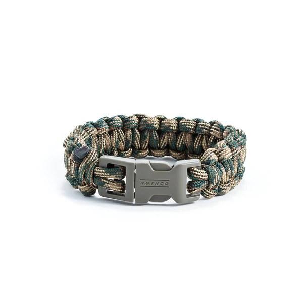 Green Camo Survival Bracelet Lucky Snipe Llc