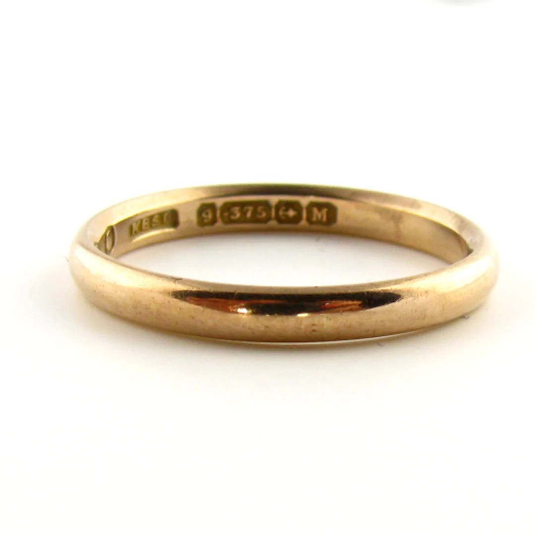 antique victorian birmingham rose gold wedding band art deco wedding band Antique Wedding Ring
