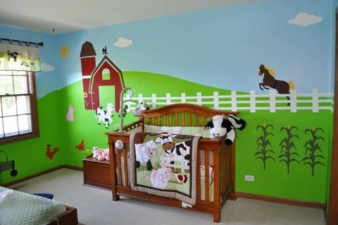 Jungle Animal Wallpaper How To Accessorize Your Farm Themed Kids Room Or Nursery