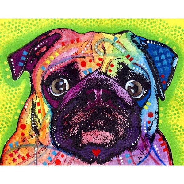 Polka Dots Wallpaper For Iphone Pug Dog Wall Sticker Decal Animal Pop Art By Dean Russo