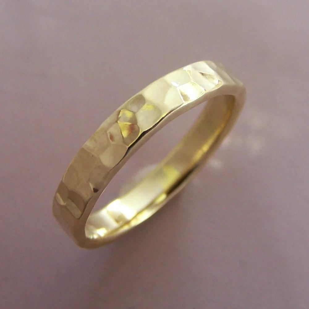 18k yellow hammered 3mm 18k gold wedding bands 18k Yellow Gold Hand Hammered Wedding Band Choose a Width